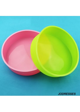 Silicone Handmade 8 Inch Round Cake Mold Baking Tray