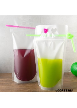 100PCS Disposable Hot And Cold Drinks Milk Tea Packaging Bag 23*13CM 500ML