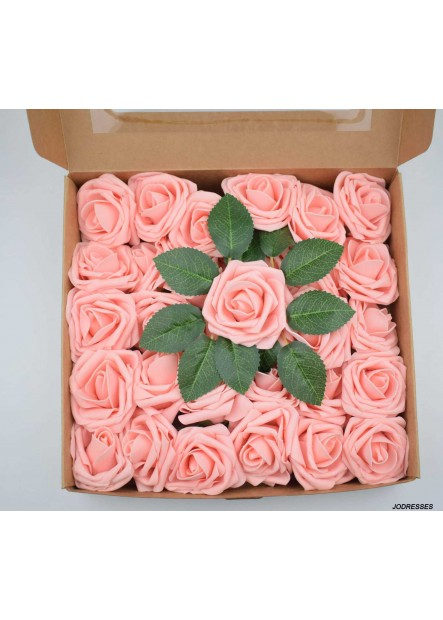 50 Foam Boxed Roses Fake Flowers Multiple Colour