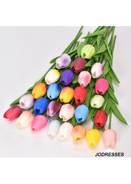 5pcs Tulip Simulation Flower Fake Flower Wedding Party