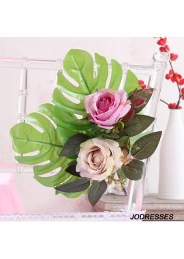 Decoration Props Supplies Chair Back Flower Decoration Flower Length 28CM