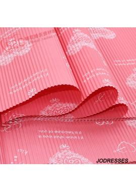 3PCS LOVE Corrugated Paper Printed Hard Crepe Paper 50CM*70CM