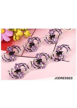 6pcs Rhinestone Small Grab Headgear Hairpin With Diamonds