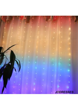 Rainbow Copper Wire Lamp Curtain Lamp 1.5*2M