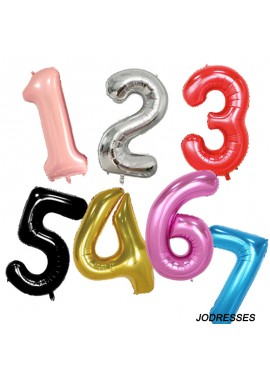 40 Inch Birthday Number Balloon Party Decorations Digital Balloons