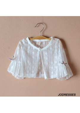 Lace Shawl Princess Flower Girl Wedding Dress Matching Shirt Small Coat Girl's Wear