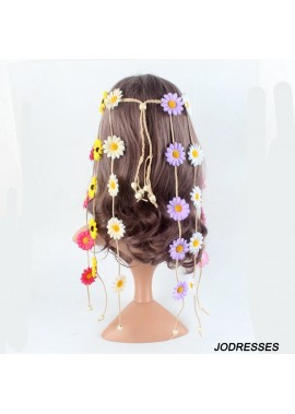 Daisy Flower Headband Sun Flower Headdress Headband Floral belt