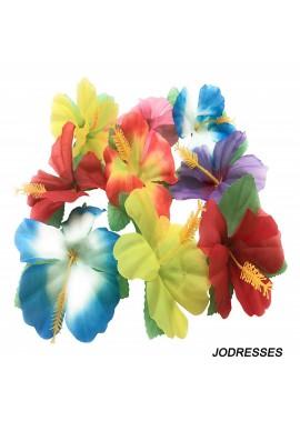 24pcs Hawaii Theme Desktop Decoration 11cmSsimulation Hibiscus Hibiscus Fower