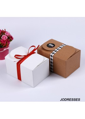10pcs White Pair Of Kraft Paper Box Packaging