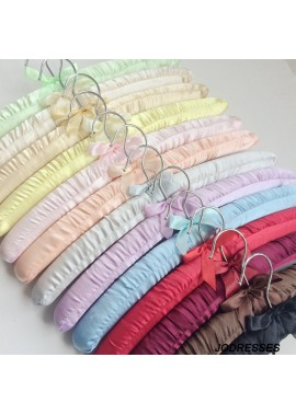 10PCS Seamless Cloth Hangers Silk Clothes Rack Sponge Hanger 38CM