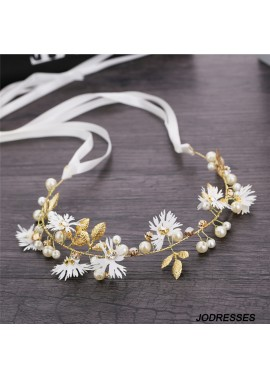 Simple Little Daisy Crystal Twisted Beads Handmade Hair Band Length About 33CM