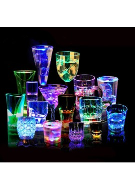 6PCS Light Cup Led Colorful Light Beer Mug 370ML
