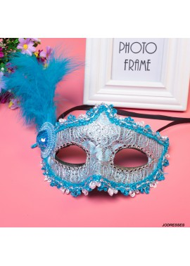Masquerade Venetian Patch Painted Princess Party Mask