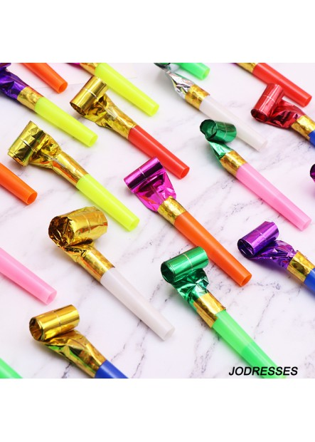 100PCS Birthday Party Long Nose Whistle 24*2.1CM