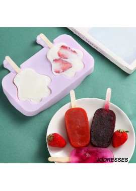 5PCS Cute Cartoon Homemade Models Of Ice Cream Silicone Molds  0.15KG