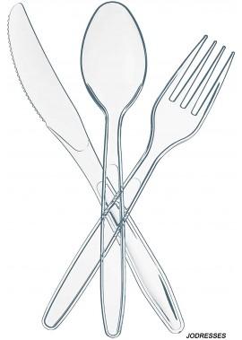 Disposable Plastic Utensils | 100 Plastic Forks, 100 Plastic Spoons, 100 Plastic Knives
