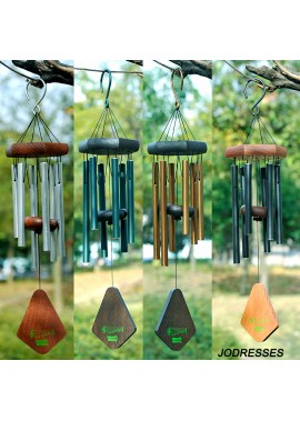 Solid Wood Metal Aluminum Tube Music Wind Chime Ornaments Total Length 50CM