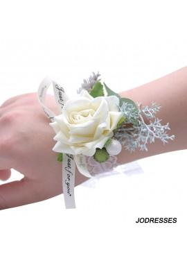 Artificial Flower Bride Bridesmaid Wrist Flower Corsage