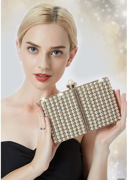 Fashion Pearl Lady Party Handbags T901556158109