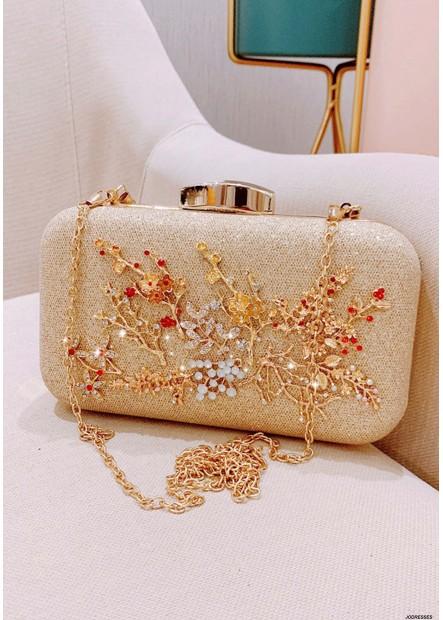 New Fashion Fairy Cute Flower Diamond Dinner Party Bags T901556257575