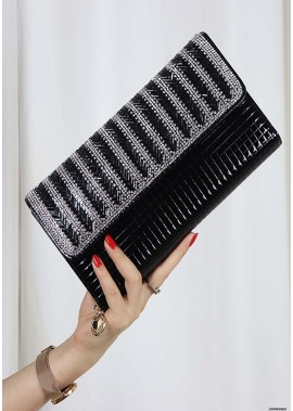 New Striped Diamond One Shoulder Slung Handbags T901556095655