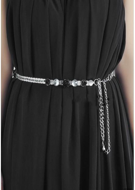 Black Flowers Chains T901556509021
