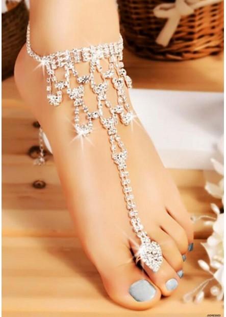 Glamorous Rhinestones Anklets T901556528462