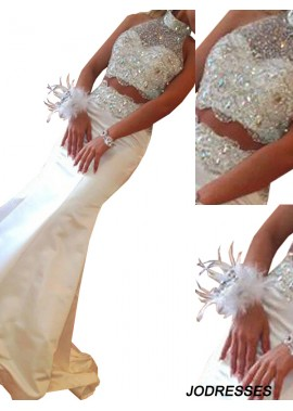 Jodresses Two Piece Long Mermaid Long Prom Evening Dress T801524703936