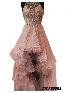 Jodresses High Low Long Prom Evening Dress T801524703853