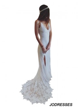 Jodresses 2020 Beach Lace Wedding Dresses T801524714944