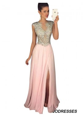 Jodresses Pink Long Evening Dress T801524703645