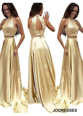 Jodresses Two Piece Long Prom Evening Dress T801524704691