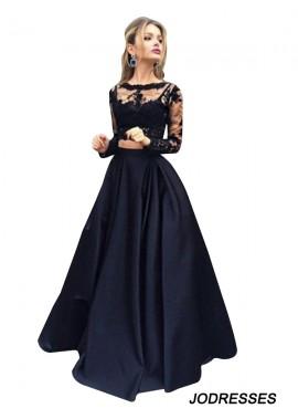 Jodresses Lace Black Long Prom Evening Dress T801524703566