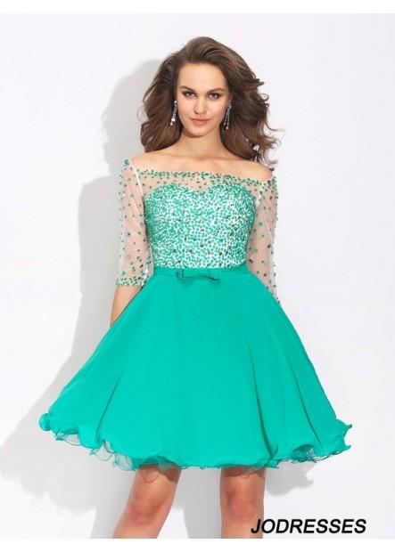 Jodresses Sexy Short Homecoming Prom Evening Dress T801524710410
