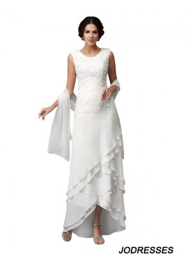 Jodresses White Mother Of The Bride Dress With Shawl T801524724679