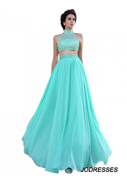 Jodresses Two Piece Long Prom Dress T801524706824