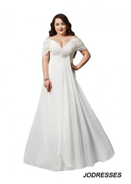 Jodresses White Long Plus Size Prom Evening Dress T801524704103