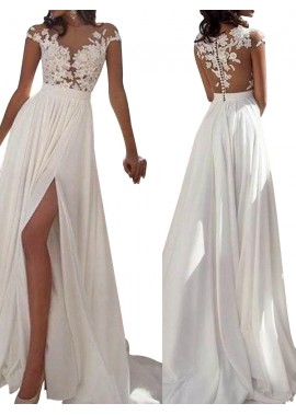 Jodresses Sexy 2020 White Summer Beach Beach Long Wedding  / Evening Dresses T801524703573