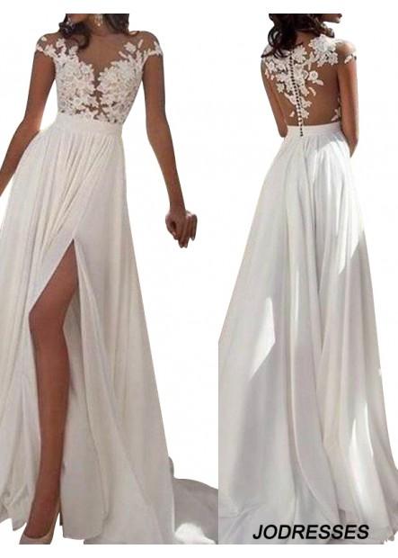 Jodresses Sexy 2021 White Summer Beach Beach Long Wedding  / Evening Dresses T801524703573