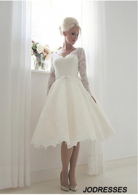 Jodresses Short Lace Wedding Dress T801525383602
