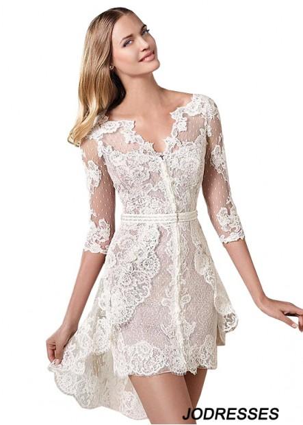 Jodresses Lace Short Wedding Dress T801525318014