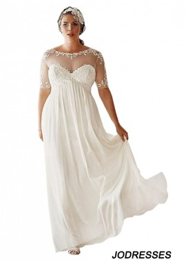 Jodresses Simple Plus Size Wedding Dress T801525317649